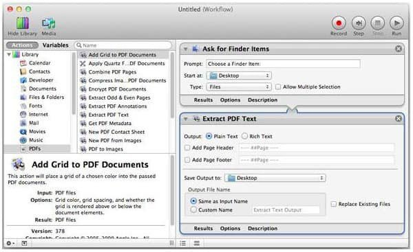 Convert PDF to Word on Mac with Automator
