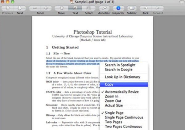 Convert PDF to Word Using Preview