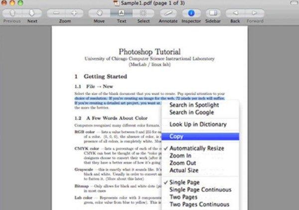 Converter PDF em Word usando visualização