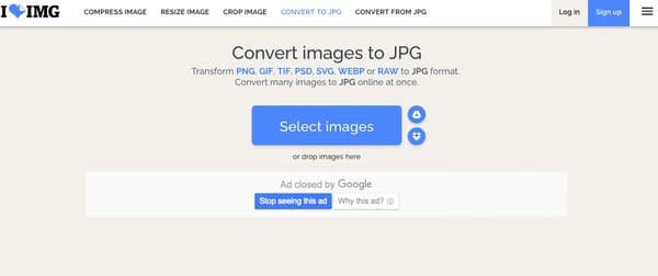 Konvertera PNG till JPG iloveimg