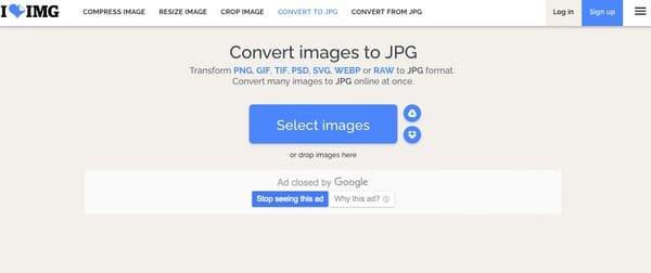 Convertir PNG en JPG iloveimg