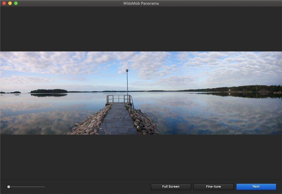 Create Horizontal Panorama