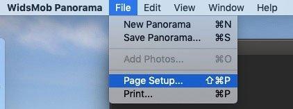 Configuración de página de archivo Panorama