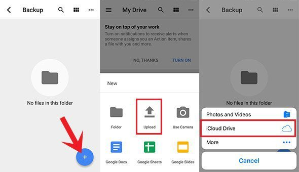 Get Photos from iCloud to Google Photos