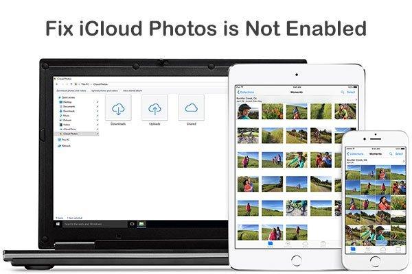 Фотографии iCloud не включены