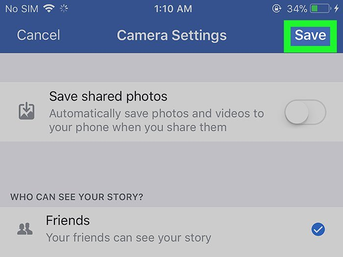 Save Facebook Photo on iPad