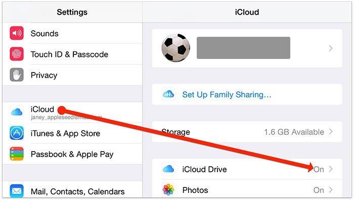 Сохранить фотографии в iCloud Drive