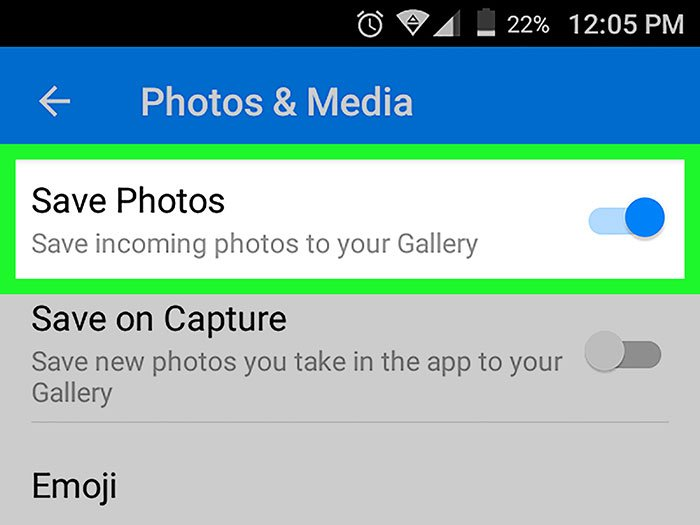 Save Pictures on Facebook Messenger