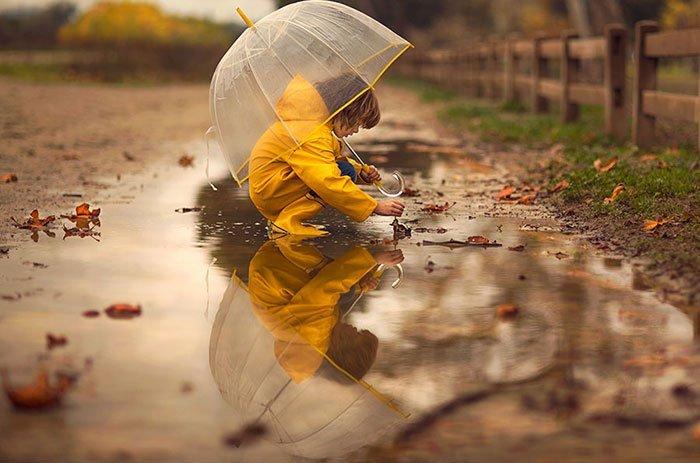 Child in Rain Original