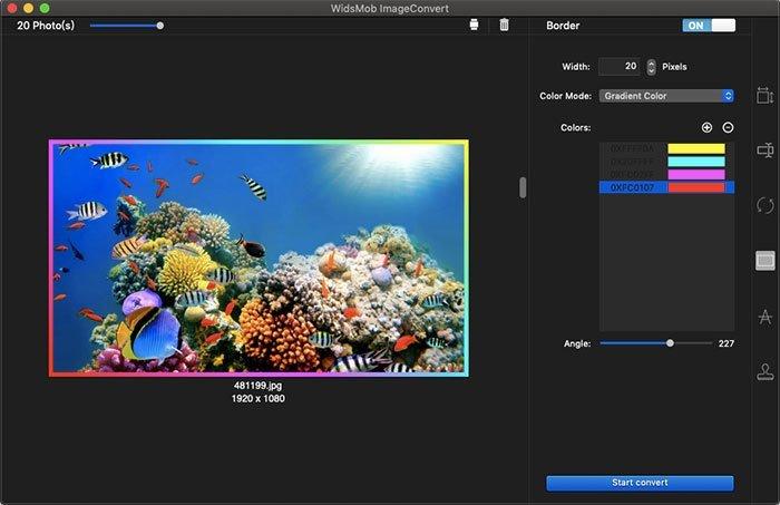 Gradient Color Border ImageConvert