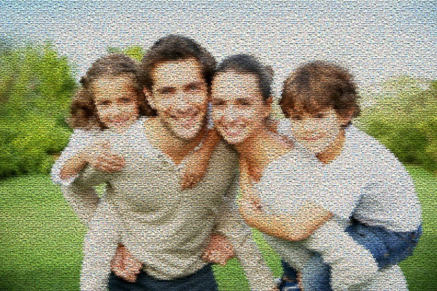 Happy Family Photo Mosaic