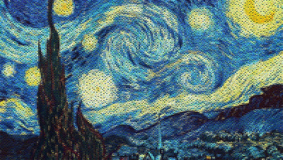 Van Gogh Starry Night Mosaic