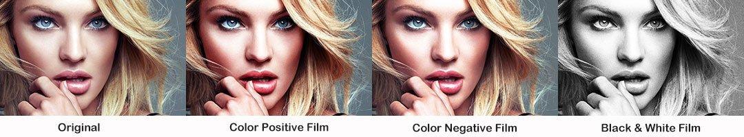 여자 초상화 색상 변환
