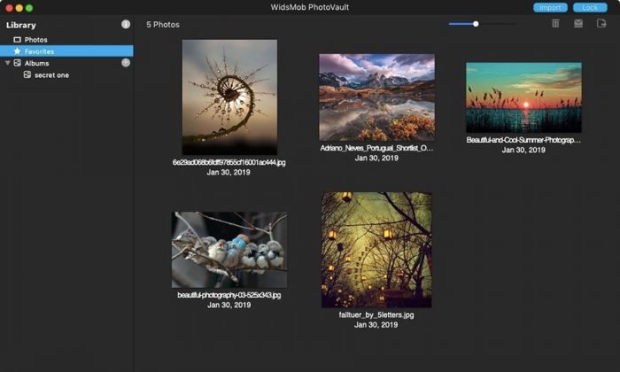 즐겨 찾는 PhotoVault에 사진 추가