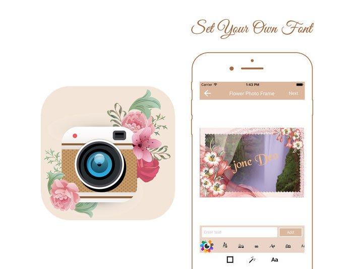 Aplicación Flower Photo Frame