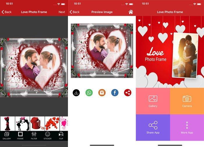 Aplicación Love Photo Frame