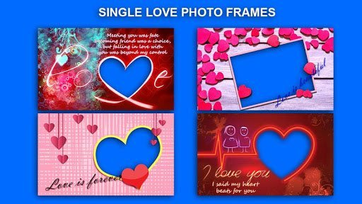 Aplicación de marcos de fotos de amor romántico