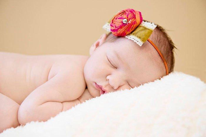 Угол фото новорожденного