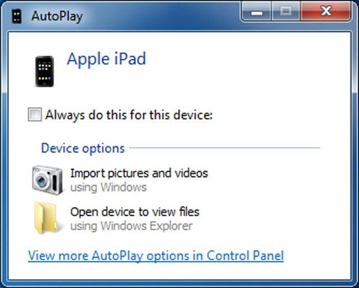AutoPlay iPad