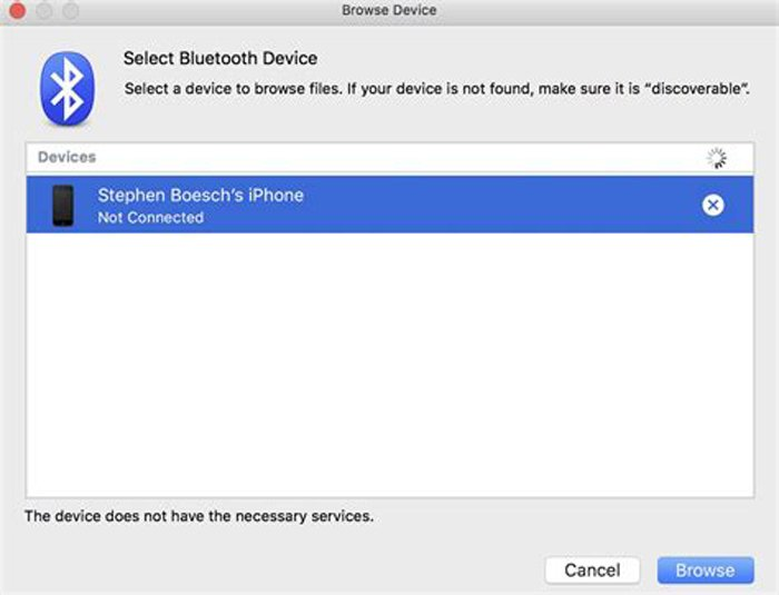 Bluetooth Photos Mac to iPhone