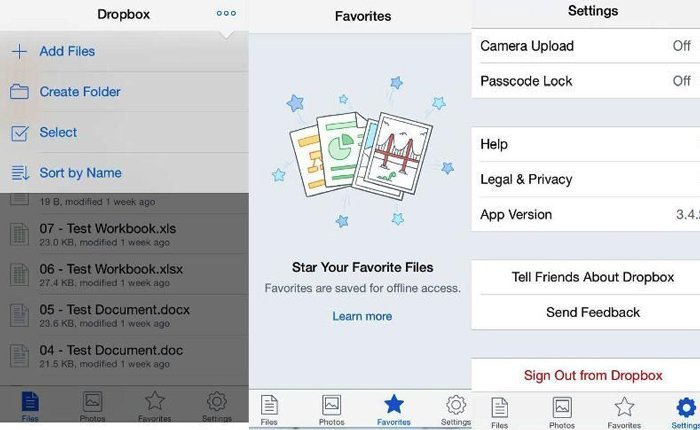 Download Photos Dropbox iPhone