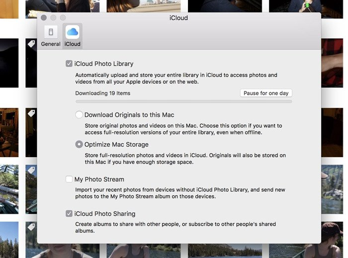 Sync Photos with iCloud Photo Library