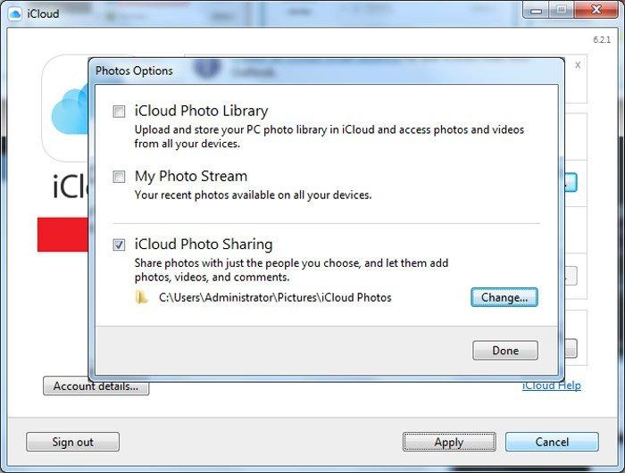 Partage de photos iCloud