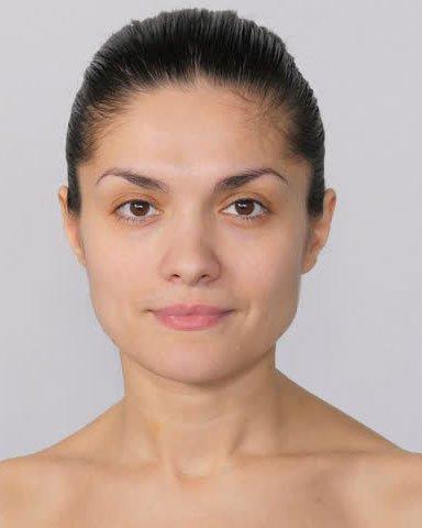 Maquillage de portrait avant 2