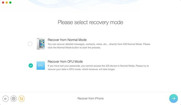 Recover Deleted Photos from iPhone in DFU Mode