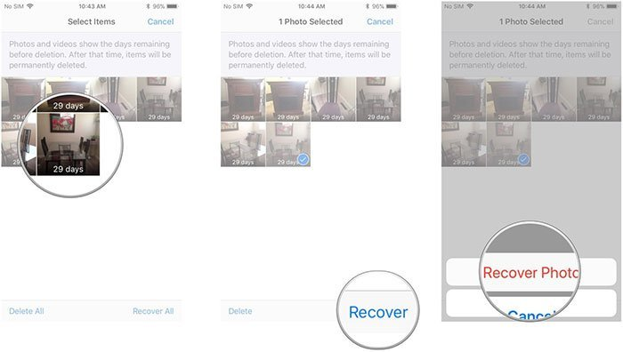 Find Deleted Photos on iPhone directly from iOS