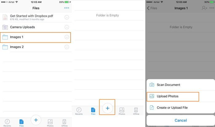 Transfer iPhone Photos with Dropbox