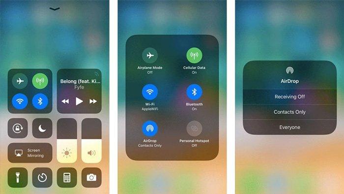 Activer Airdrop sur iPhone iPad