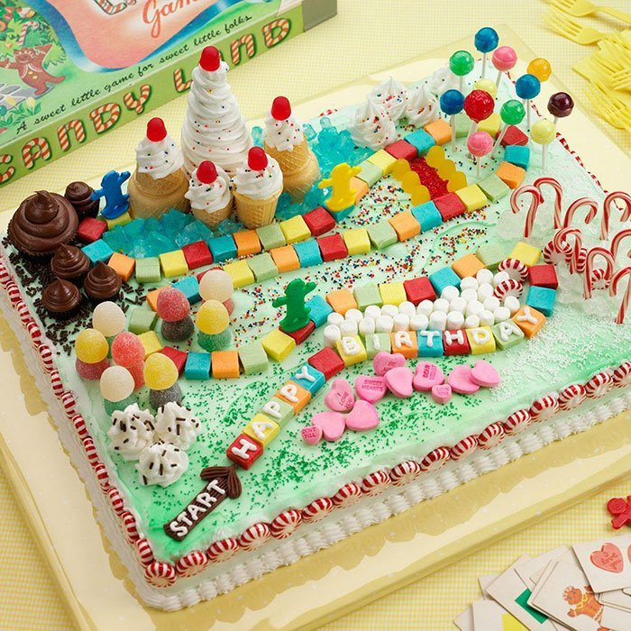 gâteau d'anniversaire de bonbons