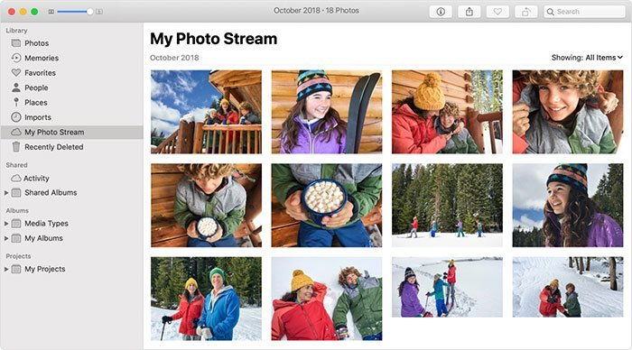 view Photo Streams on Mac