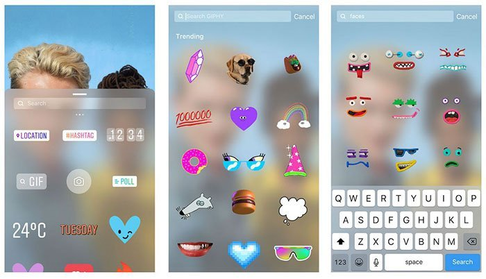 Put Stickers to Photo with Instagram