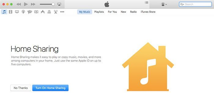 Home Sharing iTunes