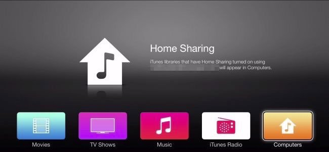 Apple TV Home Sharing