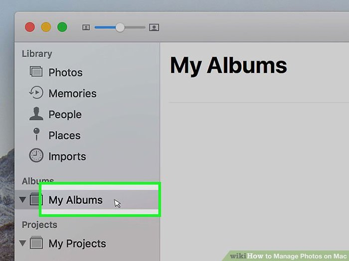 Manage albums in Photos for Mac