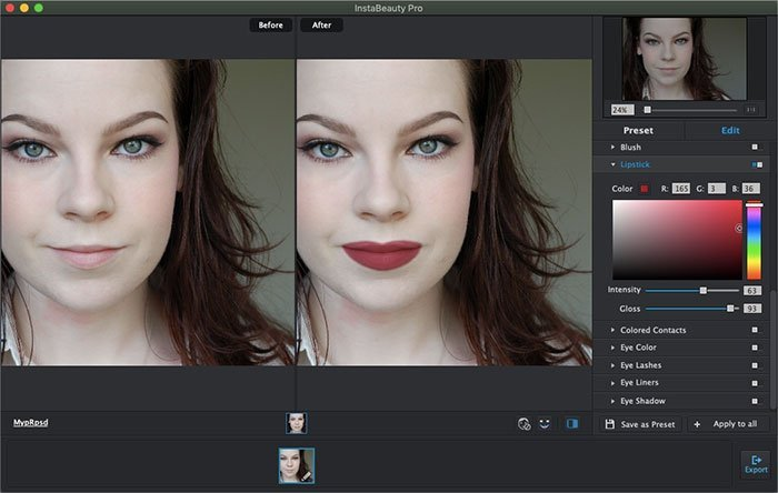 Lip Enhancer Portrait Pro
