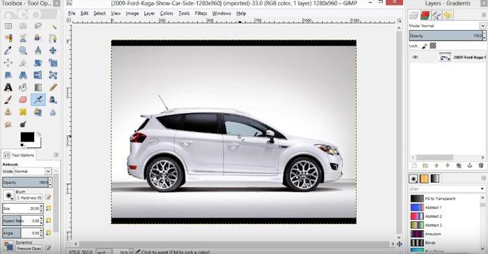 Importar foto GIMP