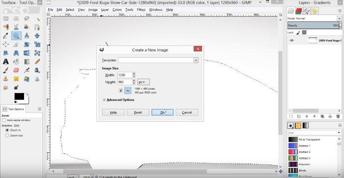 Colar Peça Recorte GIMP