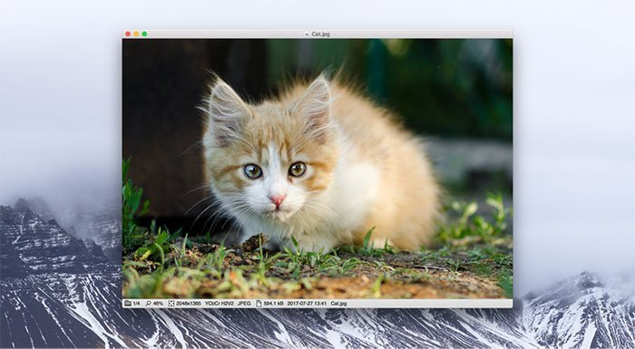 Veja a foto no Mac com o Xee