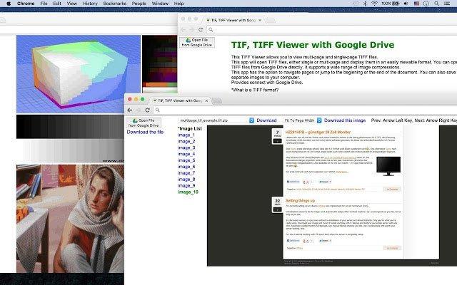 Se TIFF-filer med TIF, TIFF Viewer