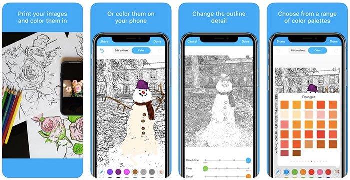 Converter imagem em página para colorir com Colorscape