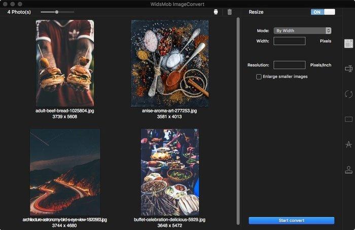 Importer des images ImageConvert