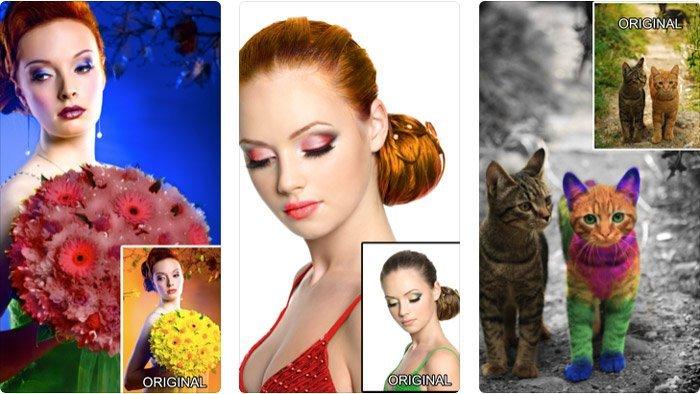 Efeitos de cor Fotos coloridas