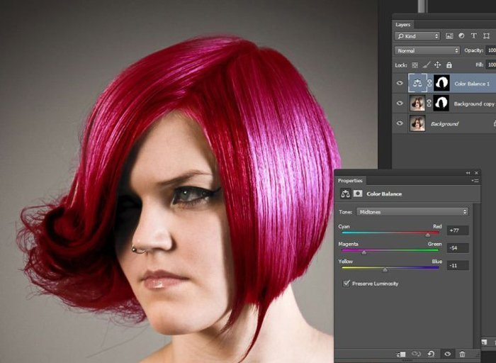 Colorize Hair Photoshop