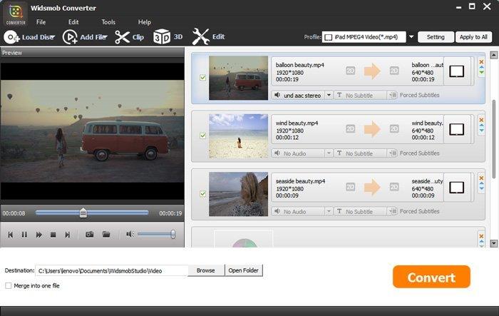 تحويل محول الفيديو widsmob