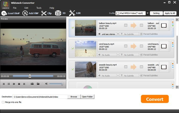 convertir le convertisseur vidéo widsmob