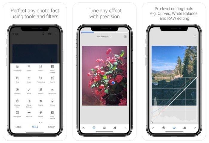 Verwischen Sie ein Bild auf dem iPhone mit Snapseed